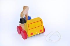 Hölzerner LKW für Kinder Stockfoto
