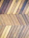 Hölzerner mit Ziegeln gedeckter Musterbeschaffenheits-Bodenhintergrund Stockbilder