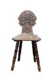 Hölzerner mittelalterlicher Stuhl Stockfoto