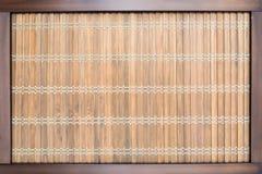 Hölzerner orientalischer Design-Hintergrund mit Rahmen Lizenzfreie Stockbilder