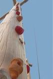 Hölzerner Pfosten für die Kinder, die Übung klettern Stockbild