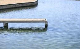 Hölzerner Pier über dem Meer Lizenzfreie Stockfotos