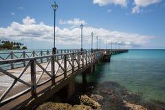 Hölzerner Pier, Barbados Stockfotografie