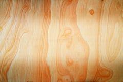 Hölzerner Plankenbraun-Beschaffenheitshintergrund mit Textaufkleber in der Mitte Stockfoto