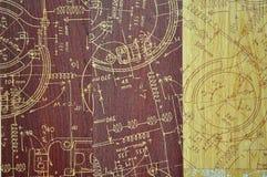 Hölzerner Plankenhintergrund der roten und gelben Beschaffenheiten stockfoto