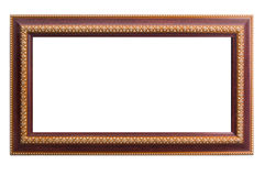 Hölzerner Rahmen mit thailändischem Kunstgoldmalerei-Kunstdesign Stockfotos
