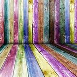Hölzerner Raum der multi Farbe Stockfotografie