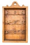Hölzerner rostiger Schlüsselhalterkasten der alten braunen Weinlese Stockfotos