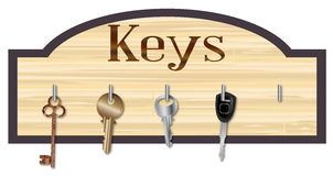 Hölzerner Schlüsselhalter Stockbilder