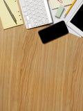 Hölzerner Schreibtisch Stockbilder