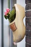 Hölzerner Schuh mit Anlage Lizenzfreie Stockbilder
