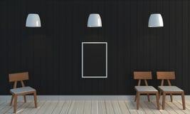 Hölzerner schwarzer Farbwandhintergrund Stockfoto