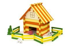 Hölzerner Spielzeugbauernhof Lizenzfreies Stockfoto