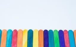 Hölzerner Stock viele Farben Lizenzfreies Stockfoto