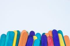 Hölzerner Stock viele Farben Stockfoto
