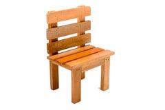 Hölzerner Stuhl auf Weiß Lizenzfreies Stockbild