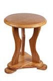 Hölzerner Stuhl getrennt auf einem weißen Hintergrund. Lizenzfreies Stockbild