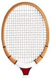 Hölzerner Tennisschläger Stockfoto