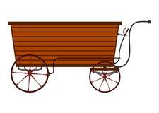 Hölzerner Verkäuferwagen stock abbildung