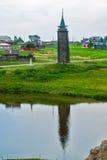 Hölzerner Wachturm, 19. Jahrhundert n Sinyachikha Lizenzfreies Stockbild