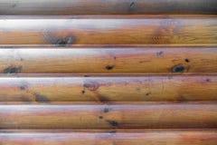 Hölzerner Wandhintergrund Brown-Planke stockfoto