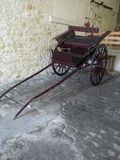 hölzerner Warenkorb, Falle oder Wagen Stockfoto