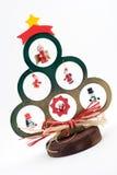 Hölzerner Weihnachtsbaum Stockfoto