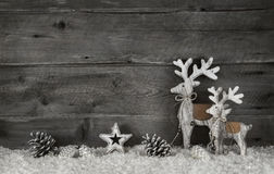 Hölzerner Weihnachtshintergrund im Shabby-Chic-Stil im Grau und im whi Stockbild