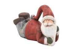 Hölzerner Weihnachtsmann Stockfoto