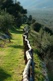 Hölzerner Zaun in Italien Stockbild