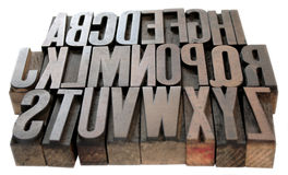 Hölzernes Alphabet stockbild