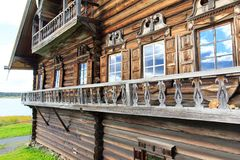 Hölzernes altes Haus, Kizhi Lizenzfreie Stockfotos