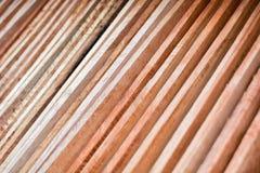 Hölzernes Bauholz benutzt für Bau Lizenzfreies Stockfoto
