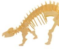Hölzernes Baumuster eines Dinosauriers lizenzfreies stockbild