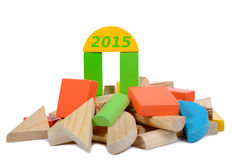 Hölzernes Bauspielzeug 2015 Lizenzfreie Stockfotografie