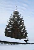 Hölzernes berühmtes russisches Museum Kizhi Lizenzfreies Stockfoto