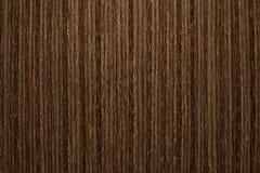 Hölzernes Beschaffenheits-Hintergrund-Material, dunkle Farbe und vertikale Streifen Lizenzfreie Stockfotografie