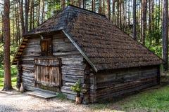 Hölzernes Blockhaus Lizenzfreies Stockfoto