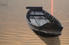 Hölzernes Boot Stockbild