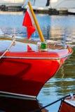 Hölzernes Boot der Weinlese Stockbilder