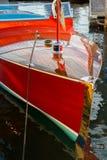 Hölzernes Boot der Weinlese Lizenzfreies Stockbild