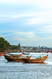 Hölzernes Boot Vietnam Stockbilder