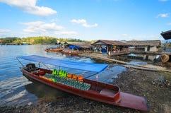HÖLZERNES Boot VON THAILAND Stockbilder