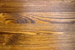 Hölzernes braunes Korngefüge, Draufsicht des hölzernen Wandhintergrundes des Holztischs stockfotografie