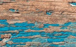 Hölzernes Brett und alte blaue Farbe Lizenzfreie Stockbilder