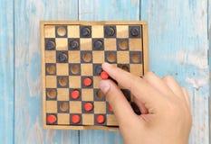 Hölzernes Brettspiel Stockbild
