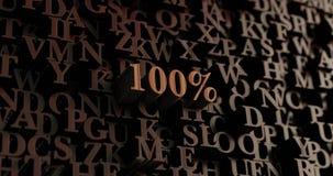 100% - hölzernes 3D übertrug Buchstaben/Mitteilung Lizenzfreie Stockbilder
