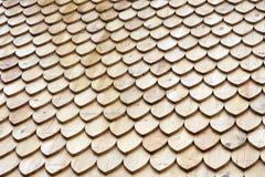 Hölzernes Dach Stockfoto