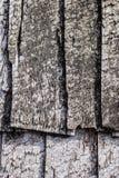 hölzernes Dach der alten Weinlese Stockbild