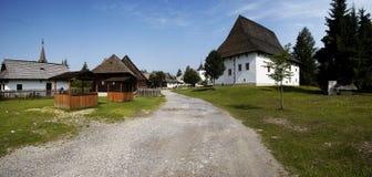 Hölzernes Dorf Stockfotografie